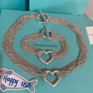 Tiffany & Co multi strand heart toggle set